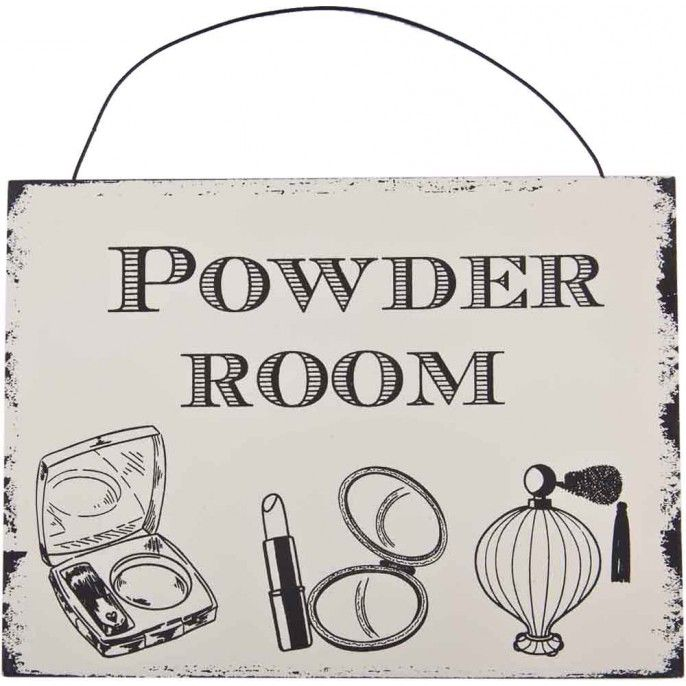 VINTAGE BATHROOM PLAQUE | Poundstretcher