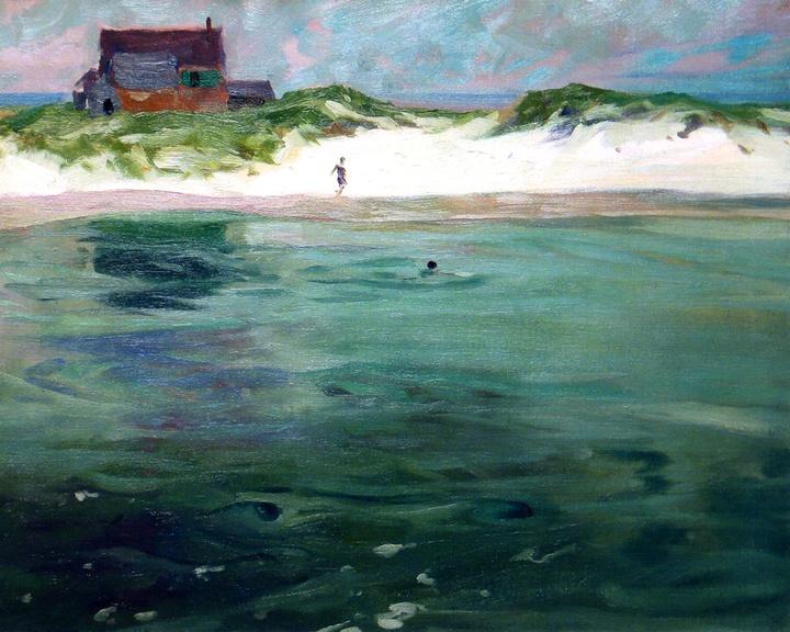 "#CharlesWoodbury, founder of #Ogunquit art Colony. ""Bathers on the Beach""  Charles Woodbury, Ogunquit Maine  www.ogunquitbeachinn.com"