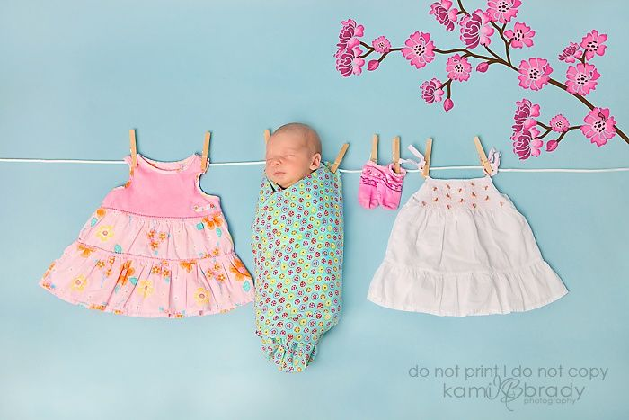 baby on a clothes line photo | creative sleeping baby... On a clothes line | While you were sleeping ...