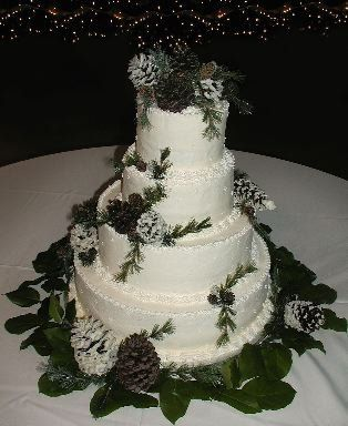 Winter Wedding Cake Toppers Modern winter wedding cake