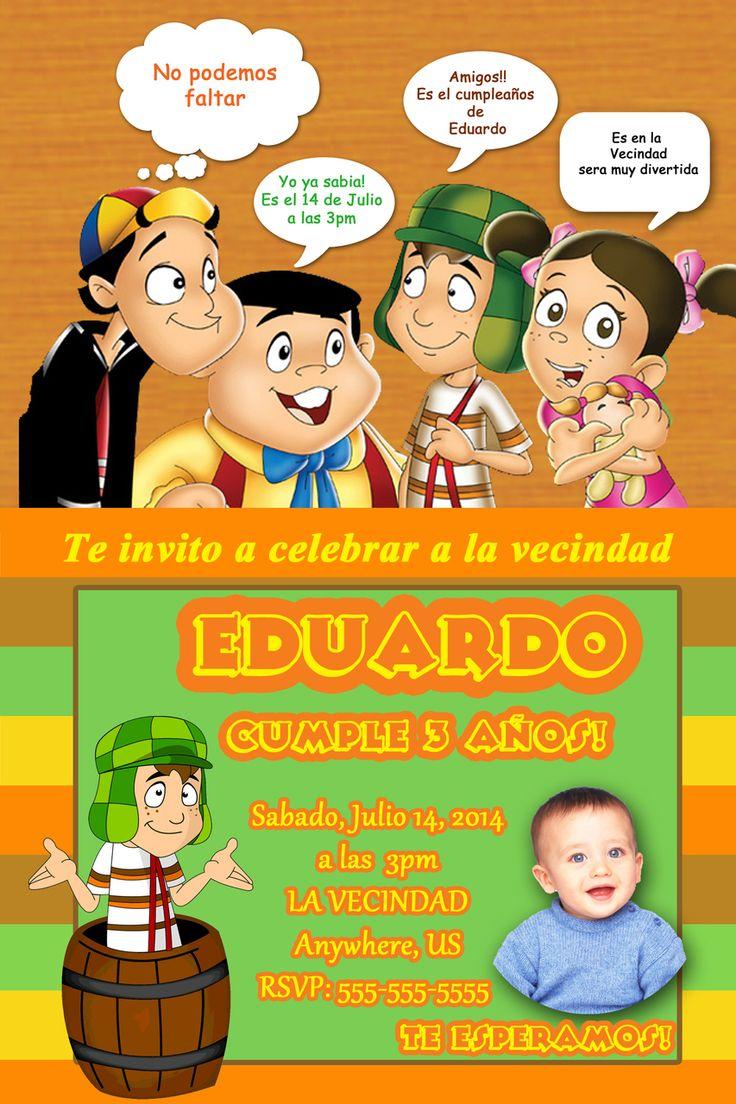 El Chavo del Ocho Birthday Invitations El Chavo del 8 La popis - partyexpressinvitations