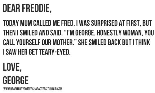 dear fred from george - Google Search