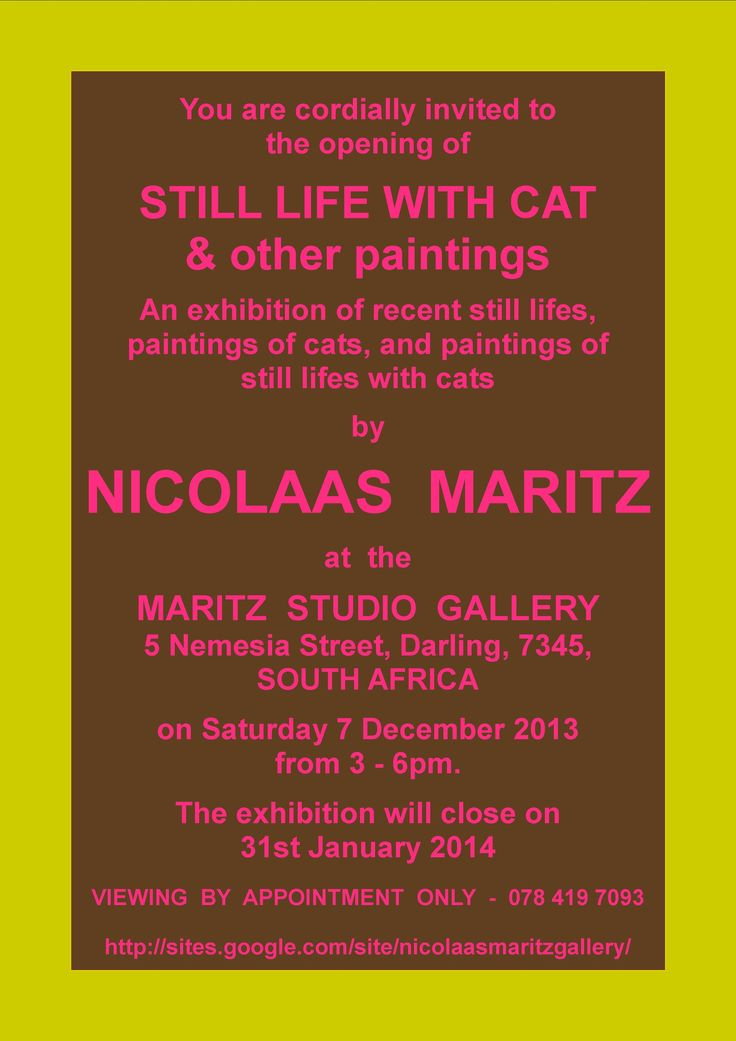50 best invitations images on pinterest editorial design nicolaas maritz exhibition invitation stopboris Choice Image