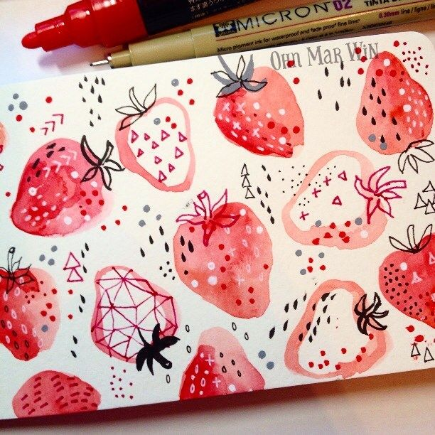Ohn Mar Win - Strawberries on scope and a very quick introduction to writing…