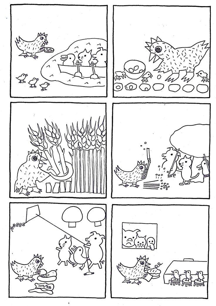 la petite poule rousse barton
