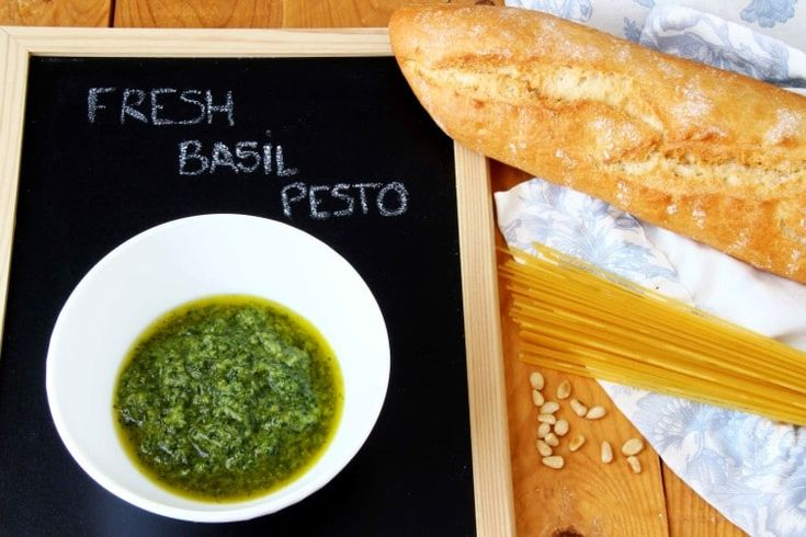 Easy homemade fresh basil pesto recipe! Why not try and make it at home? It literally takes only a few minutes and tastes divine via @happyfoodstube