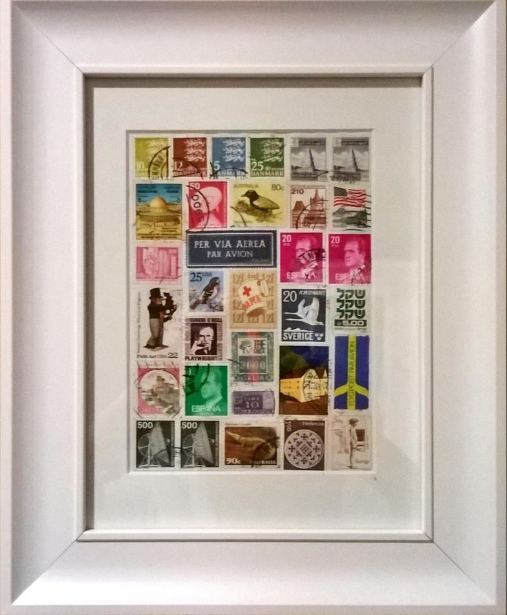 Used postage stamps mixture