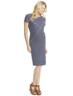 Jessica Simpson Striped Maternity Dress