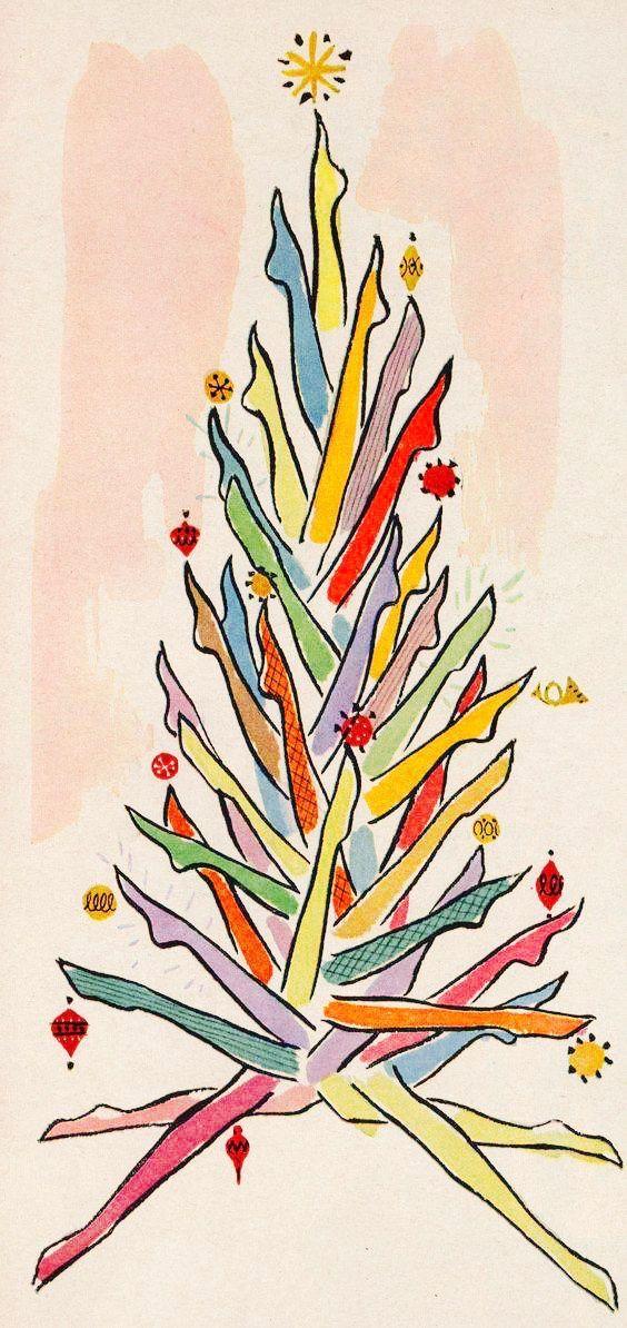 Vintage Christmas Tree. Christmas Stockings.