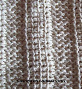 Tunisian Crochet-Alternating Tunisian Simple Stitch & Purl Stitch Columns