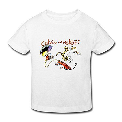 YUTUO Kids Thomas Calvin And Hobbes Tiger Short Sleeve 2-6 Boys Girls T Shirts White 2 Toddler @ niftywarehouse.com #NiftyWarehouse #CalvinAndHobbes #Comics #ComicStrip #ComicStrips #Funnies #SundayComics
