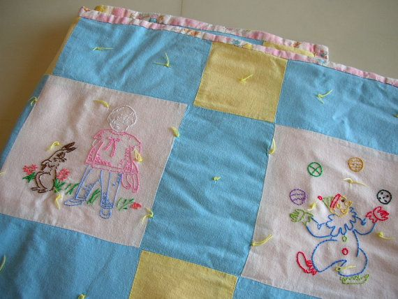 17 Best Images About Embroidered Baby Quilts On Pinterest