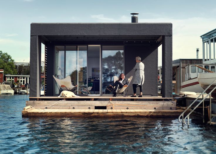 Houseboat By Laust Nørgaard Floats In Copenhagen Harbourby Alan G  BrakeDezeen / Danish Boatbuilder Laust Nørgaard Has Completed A Floating  Home For His ... Awesome Ideas