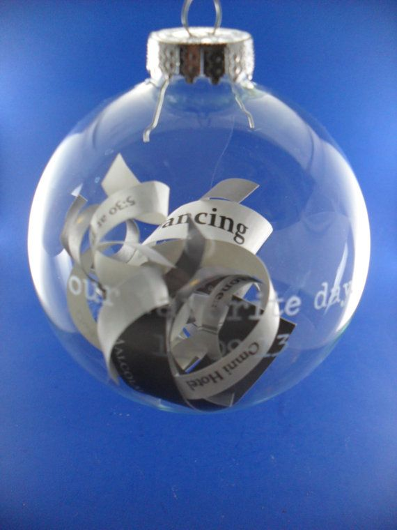 Save The Date Wedding Invitation Keepsake Etched Glass Ornament
