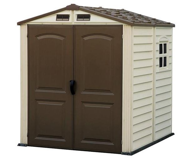 duramax 6x6 shed woodside range steel frame and pvc vinyl clad