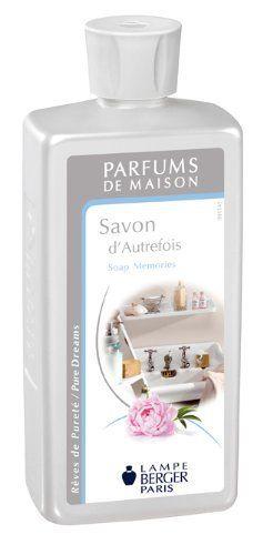 Lampe Berger 115130 Recharge parfum de maison pour lampe à parfum Savon d'Autrefois pour Lampe à Parfum 500 ml: parfum maison lampe savon…