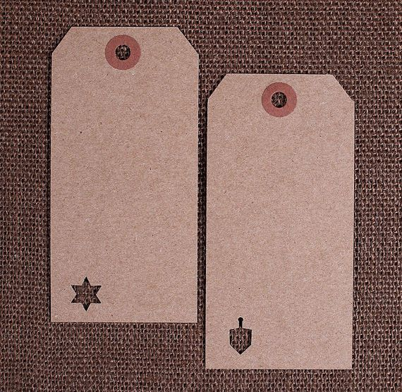 Large Brown Hanukkah Gift Tags