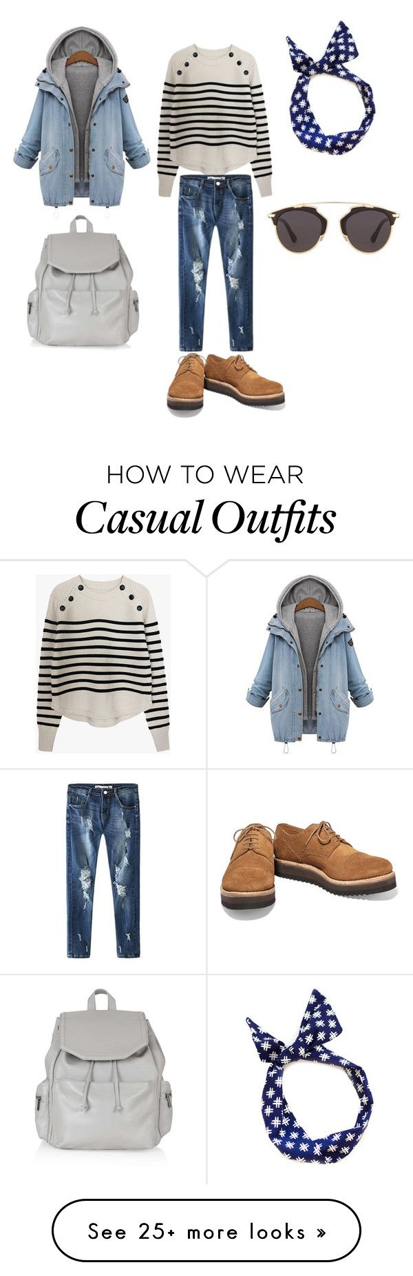 """grey casual"" by chalaya-yuliya on Polyvore featuring Grenson, Topshop, Christian Dior, women's clothing, women, female, woman, misses and juniors"