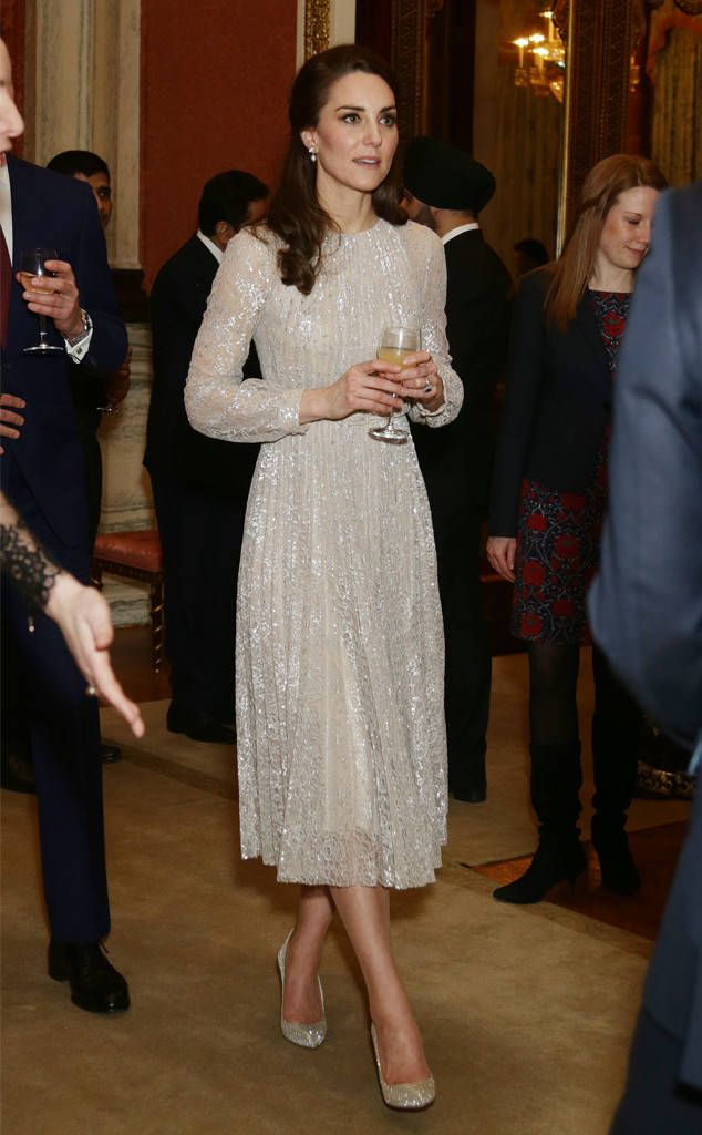 Kate Middleton from The Big Picture: Today's Hot Photos  Sparkling Princess! The royal wears a glitzy ensemble during an event in London.