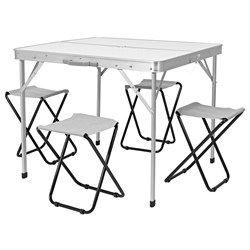 Campingbord med 4 stoler