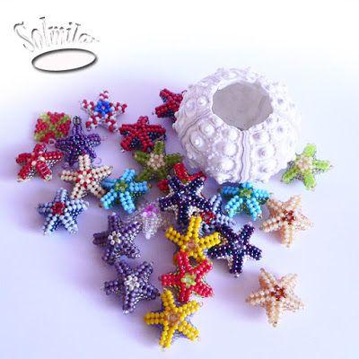 SolmilarArt: Kolorowe koralikowe rozgwiazdy