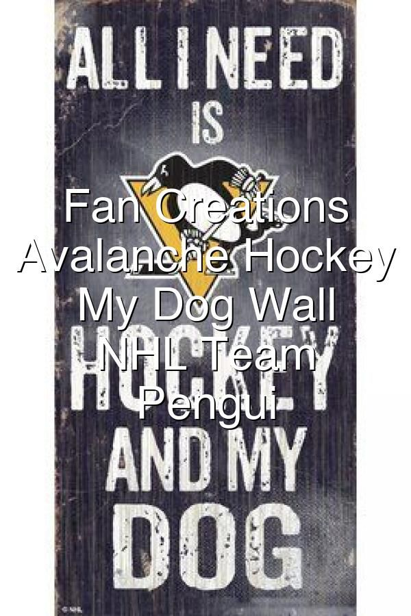 Pittsburgh Penguins Christmas Advertisment 2020 Hockey Pucks Fan Creations Colorado Avalanche Hockey and My Dog Wall D cor NHL