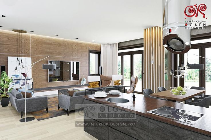 Modern Kitchen-Living-Room Design