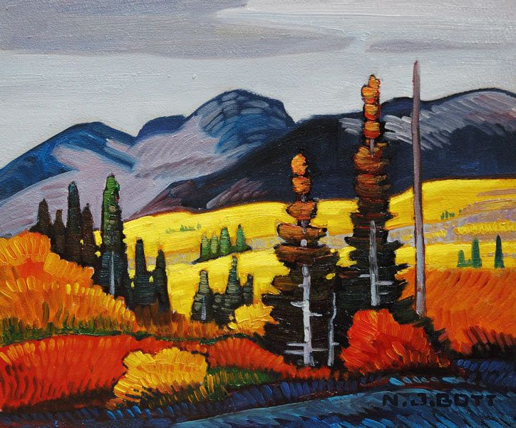"""Bulkley Valley (Smithers),"" by Nicholas Bott - 10x12 oil"