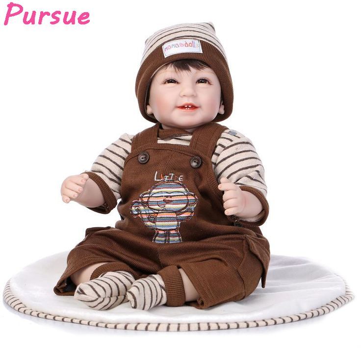 Pursue Reborn Silicon Doll Baby Alive 55cm Reborn Silicone Doll for Girls Educational Toys bebe reborn menina de silicone menina #Affiliate