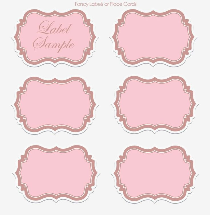 label templates Wedding Wednesday DIY Printable Vintage - name labels templates free