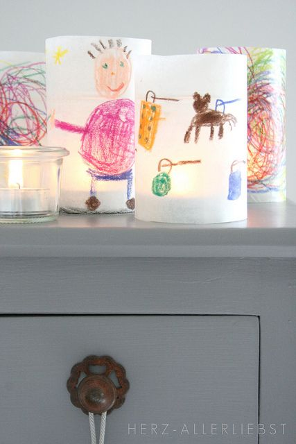 cool kids craft!: Paper Lanterns, Teas Lights, Baking Paper, Glasses Jars, Art Kids, Birthday Parties Crafts, Kids Artworks, Parchment Paper, Wax Paper