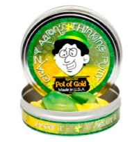 Thinking Putty - Limited Edition St. Patrick's Day Pot of Gold Hypercolor, by Crazy Aaron's Putty World #putty #patrick