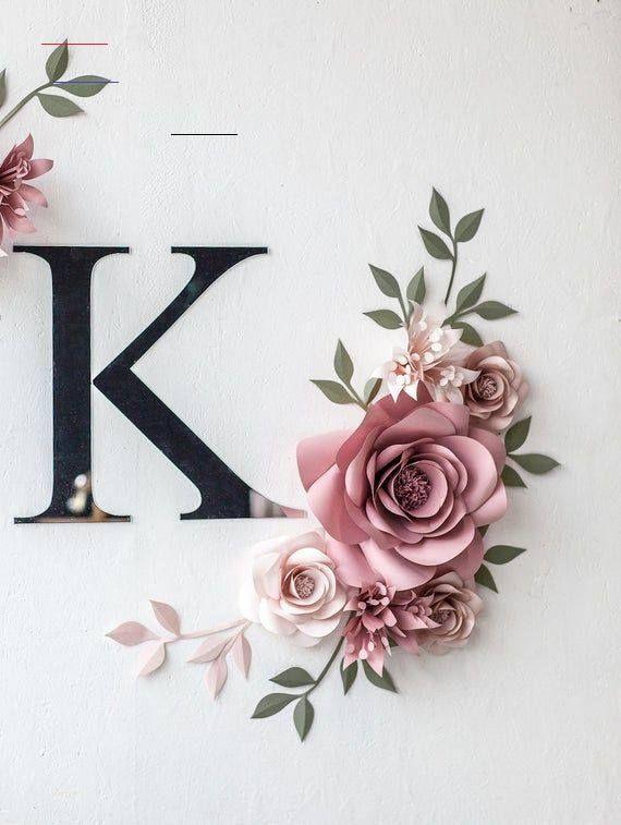 Personalisierte Papier Blumen Wand Dekor personalisierte