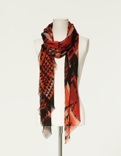 ethnic print scarf scarves accessories