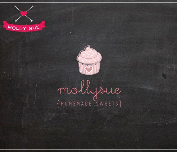 Photography Logo Design  Cupcake Bakery Cute Cake by mollysuelogos, $35.00