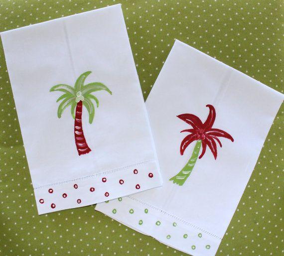 Coastal Christmas Guest Towels