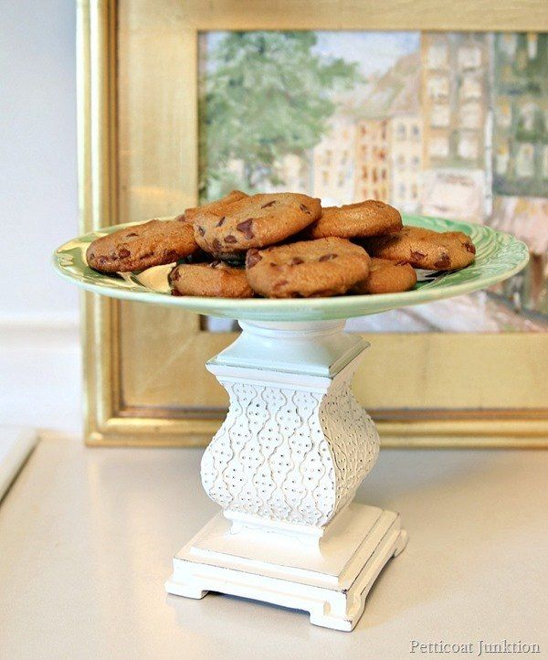 How to Make A Decorative DIY Cookie Stand from A Candle Holder