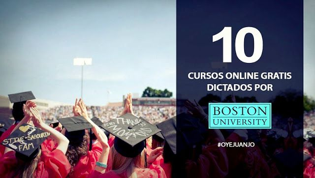 Cursos online gratis de la Universidad de Boston para 2016