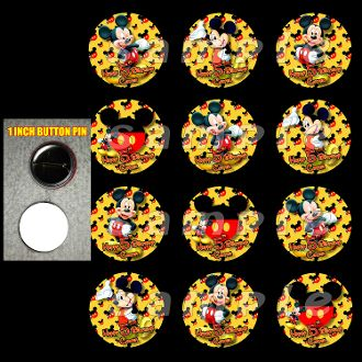 """MICKEY MOUSE 1"""" BUTTONS"""