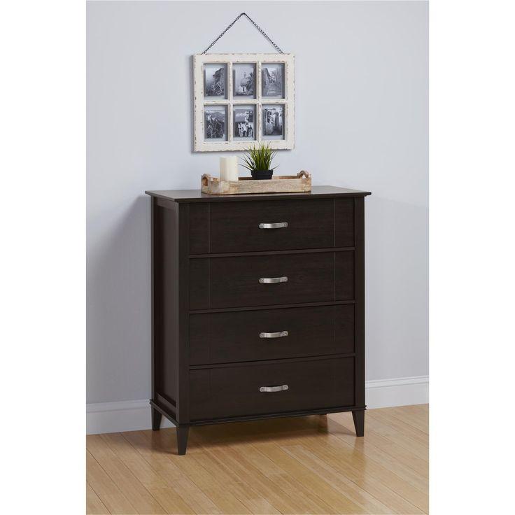Ameriwood Home Altra Quinn 4 Drawer Espresso Dresser
