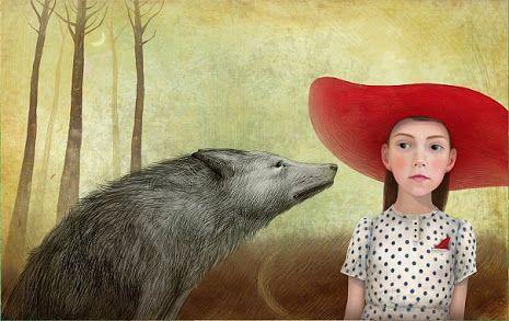 Pinzellades al món: Caputxeta Roja il·lustrada / Caperucita Roja ilustrada / Little Red Riding Hood illustrated / Le Petit Chaperon Roug illustré (16)