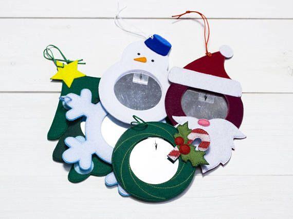 Baby toy mirror Safe mirror Christmas toys Felt snowflake