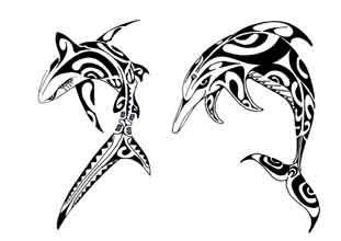 Tatouage polynesien requin