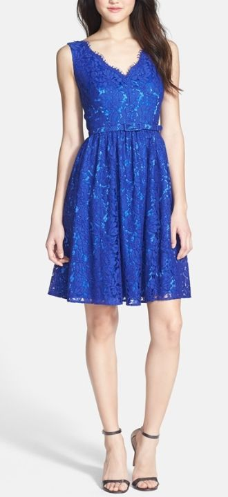 Blue lace dress, just in time for 4th of July parties!