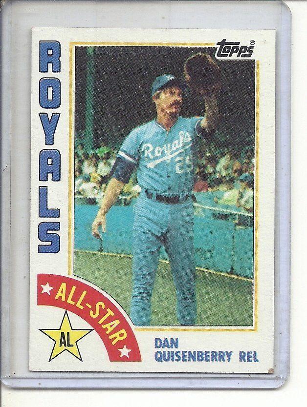 B 1 1984 Topps 407 Dan Quisenberry Al All Star All Star Sports Cards Baseball Cards