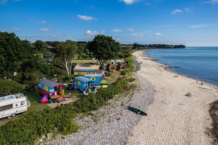 Camping direkt am Ostseestrand