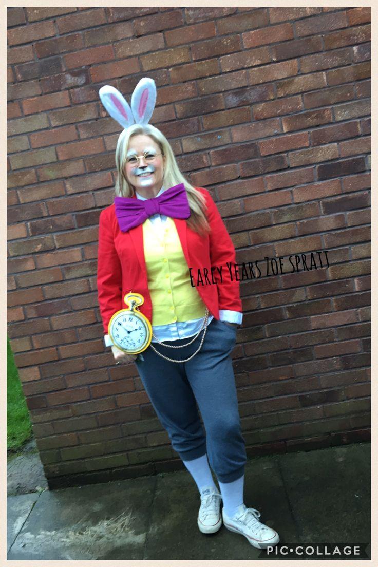 White rabbit Alice in wonderland costume