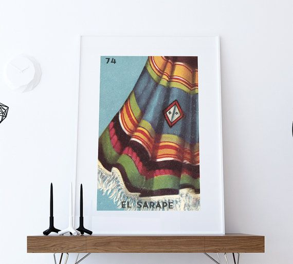 Hey, I found this really awesome Etsy listing at https://www.etsy.com/listing/288536503/loteria-el-sarape-mexican-retro