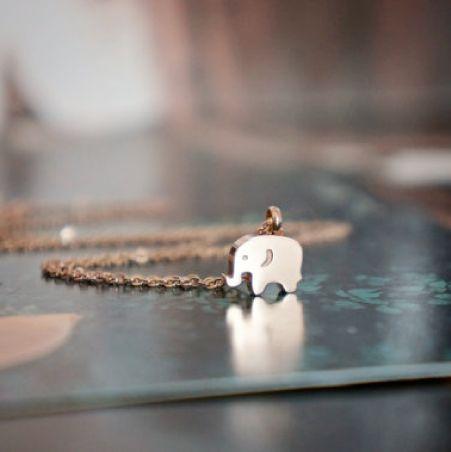 Colier placat cu aur roz - pandantiv Elefant - MSM-Shop