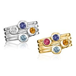 Aside from the sparkle factor, the best part about these stackable birthstone rings from Luna and Stella (available in sterling silver or gold vermeil) is that you can keep adding to your set with every birthday, anniversary or new addition to your family.